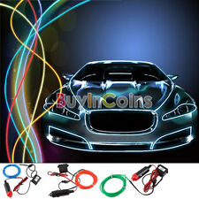 Flexible Glow EL Wire Rope Tube Car LED Interior Light Line bar 2M w/ Drive #4