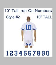"10"" Tall Iron-On Number for Sports Jersey T-Shirt (Single Numbers 0-9) Style #1"