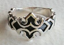 925 STERLING SILVER MEDIEVAL CROSS RING - choose your size