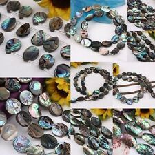 New Zealand Abalone Shell Teardrop Round Oval Rice Shaped Loose Beads Findings