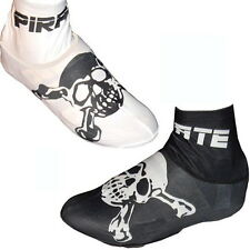 Pirate Black or White Cycling Overshoe Lycra bootie S, M, L, XL time trial