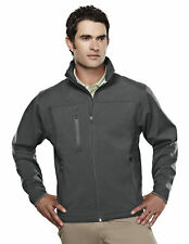 Tri-Mountain Men's Stylish Bonded Zippered Pockets Fleece Shell Jacket. 6400