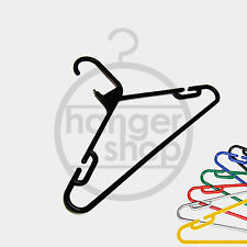 12 X Heavy Duty Plastic Multipurpose Garment / Clothes Hanger with Notches & Bar