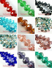18x13mm Rondelle Faceted Glass Crystal Charms Finding Loose Spacer Rondelle Bead