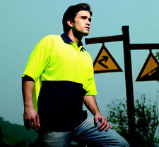 High-visibility Poly Cotton Short Sleeve Anti Pill Safety Polo Shirt Work wear
