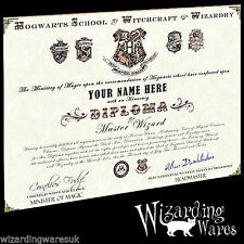 Harry Potter Hogwarts Diploma Certificate, Ultra High Resolution Letters & Logos