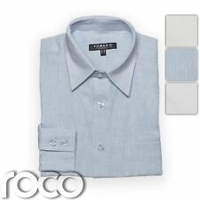 BOYS WHITE WEDDING PAGEBOY PROM LINEN SHIRT for suits