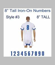 "8"" Tall Iron-On Number for Football Baseball Jersey Sports T-Shirt Style #5"