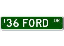 1936 36 FORD Aluminum Street Sign