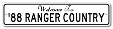 1988 88 FORD RANGER Aluminum Welcome to Car Country Sign