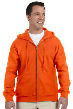 Gildan Men's Pouch Pocket Pill Resistant Ribbed Cuffs Full Zip Hoodie. G126