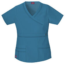 Scrubs Dickies Gen Flex Youtility Mock Wrap Top 817355 Caribbean  Buy 3 Ship $6