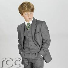BOYS SUITS CHILDS KIDS PAGE BOY GREY SUIT 1 - 15 YRS