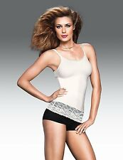 FLEXEES FAT FREE DRESSING CAMI WITH LACE #3666 WHITE NWT