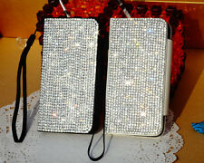 Bling Sliver Swarovski Element Crystal Cover Pouch Case For iPhone 4/4S iPhone 5