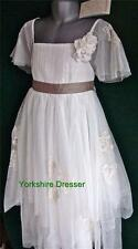 New MONSOON Girls Ivory & Beige THEODORA Tulle Party Bridesmaid Dress -All Sizes