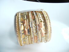 Gorgeous Amrita Singh Austrian Crystal Gold plated Bangles Rose Gold or Silver