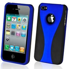 NEW STYLISH BLUE GRIP SERIES HARD CASE COVER BUMPER FOR APPLE iPHONE 4  4G 4S