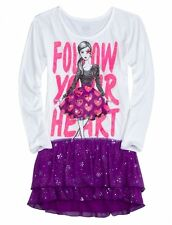 NWT Justice Girls Follow Your Heart Sequin TulleSkirt Tunic Dress Top U Pick NEW