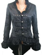 H & R Black Tail Jacket VICTORIAN GOTH STEAMPUNK Jacket Coat hi Low 0919