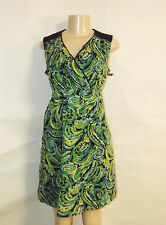BRAND NEW MERONA BRAND COTTON EMPIRE ELASTIC WAIST A LINE SLEEVELESS DRESS