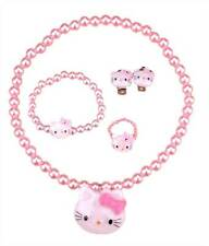 Jewellery Set Hello Kitty Girls Play Necklace Bracelet Earings Ring Accessory