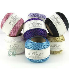 Jomil Starmist Decorative Glitter Thread 20g Balls. Metallic Colours Available.