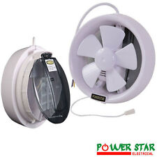 HIGH QUALITY ROUND WINDOW PVC EXHAUST VENTILATING FAN FOR ALL ROOM TYPES  6/8''