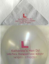 20 Personalised Party Balloons + 40 Custom Paper Napkin Set Hen Night Engagement