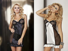 """ Roxy "" Satin & Lace Chemise by Dkaren Highest Quality Product"
