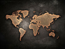 World Map Canvas Print - Choose your Size A4, A3, A1, 20x30 or 16x20 inch