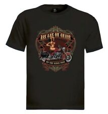 Ass Gas Or Grass T-Shirt Free Ride Hot Girl Chick Live to Ride Pin up