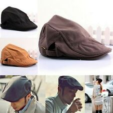 Unisex Cotton Newsboy Flat Cabbie Beret Duckbill Golf Driving Cap Hat Flex Fit