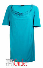 BRAND NEW EX ANN HARVEY TEAL SEQUIN TUNIC BLOUSE SIZES 18-28 PLUS SIZE