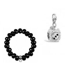 Sterling Silver CZ Dice Charm with FREE BRACELET!