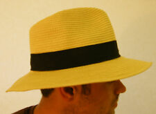 New Unisex Casual Summer Sun Straw Rollable Fedora Trilby Hat