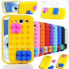 3D BUILDING LEGO BLOCKS SOFT SILICONE STAND CASE COVER FOR SAMSUNG GALAXY S3 III
