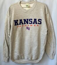 KANSAS JAYHAWKS NCAA MEN'S ATHLETIC GREY EMBROIDERED SWEATSHIRT M L XL 2XL NWT