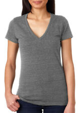 Bella + Canvas Women's Triblend Short Sleeve Soft Deep V Neck T-Shirt. B8435