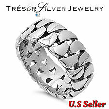 bike link chain stainless steel silver biker band ring size 9 10 11 12 13
