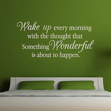 MORNING QUOTE, Wonderful, Inspirational, Wall Sticker, Decal, Wallart, SS3
