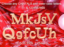 Freestanding Wooden Letters and Numbers MDF  25mm thick MDF - Unpainted