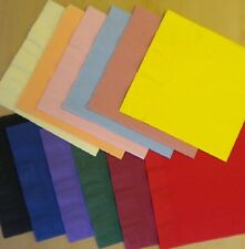 50 Bright Orange 3 ply Paper Napkins 40cm Many Colours Birthday Party Hen Night