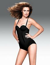 FLEXEES EASY-UP STRAPLESS BODY BRIEFER #1256 BLACK NWT