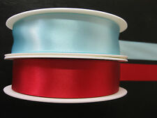 25m roll Of 25mm Double Satin Ribbon - Red or Blue