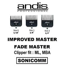 Andis Improved Master, Fade Master Attachment Guides Comb Clipper ML MBA