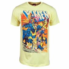 Mens Official Marvel X-Men Comic Book Cover T Shirt NEW Yellow Wolverine xmen