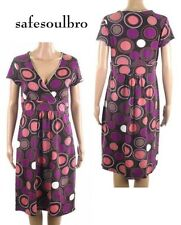 BN BODEN LADIES PURPLE PINK JERSEY TEA DRESS TUNIC SHIFT SIZE 8 10 12 14 16 18