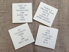 East of India - Cream Vintage Drink Coaster Gift - Choice of Four Wordings