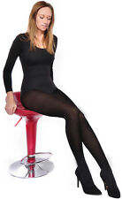 Black Ladies Tights Thick Opaque Matte  40 Denier with Gusset Hosiery Size S-4XL